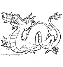 Coloriages de Dragons Rigolo - Dragon chinois a imprimer