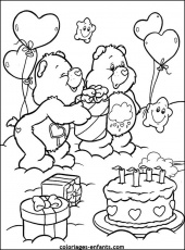 bisounours gateau Coloriage