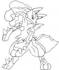 Coloriages Pokemon mega evolues Coloriage
