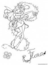flora enchantix dessin Coloriage