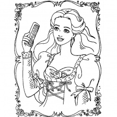 coloriage de princesse Coloriage