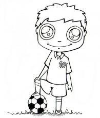 Coloriage FOOTBALL - Coloriage d'un BALLON de FOOT