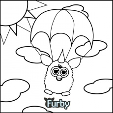 What color is your parachute, Furby? | Furby Coloring Book | Pinterest