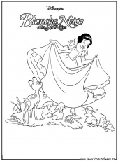 Coloriages du film d'animation de walt Disney : Blanche-Neige