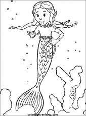 coloriages sirene