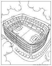 Coloriages football a imprimer et à colorier - Grand stade de foot