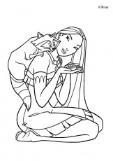 Pocahontas coloring pages : 15 free Disney printables for kids to