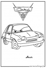 coloriage avion cars 2 Coloriage