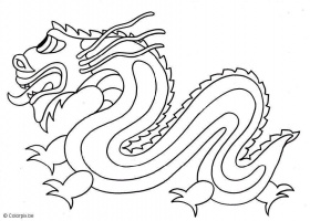 dragon chinois a colorier