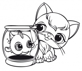 Imprimer Coloriage Dessins Série Littlest Pet Shop. 22