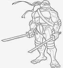 Free Printable Ninja Turtle Coloring Pages |