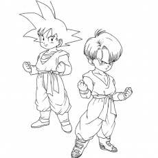 coloriages dragon ball z gt