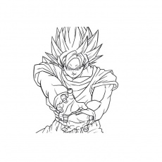 dessin de dragon ball z sangoku