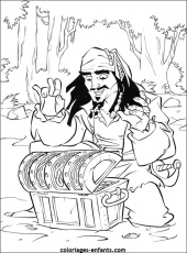 pirate caribbean Coloriage