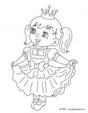 Coloriage CARNAVAL COSTUMES - Coloriage costume carnaval reine