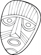 Masque africain - Dory, coloriages
