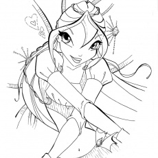 Coloriage Winx Bloom Enchantix a Imprimer Gratuit