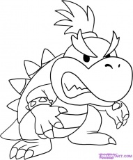 How to Draw Baby Bowser, Step by Step, Video Game Characters, Pop