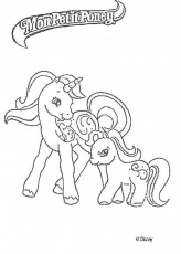 Coloriage petit poney licorne