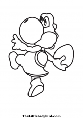on yoshi Colouring Pages
