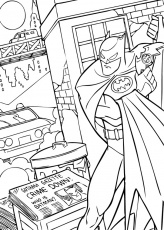 Coloriage BATMAN - Batman contre le crime