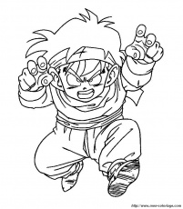 Coloriage de Manga Dragon Ball Z, dessin dragon ball z a imprimer