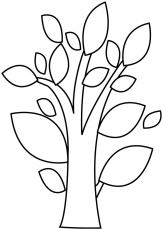 Dessin à colorier : un arbre abstrait - Dory, coloriages