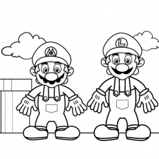 mario galaxie 2 Coloriage