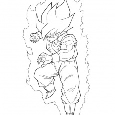 Coloriage Dragon Ball Gt Gogeta — Kunings Coloriage