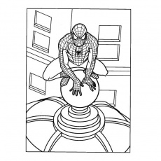 coloriage de ultimate spider-man Coloriage