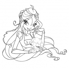 coloriage bloom winx