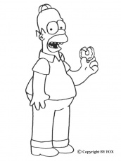 Coloriage HOMER SIMPSON - HOMER à colorier gratuitement