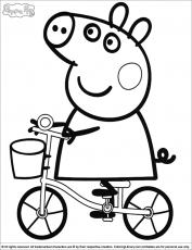 peppa pig prints Colouring Pages (page 3)