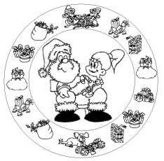 mandala-cadeaux-noel.jpg - Photos, coloriages, dessins, images