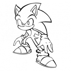 coloriage sonic