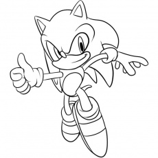 Coloriage Sonic the Hedgehog a Imprimer Gratuit