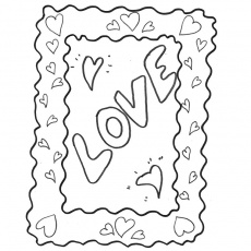 I love you Coloriage
