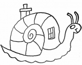Coloriage escargot maison