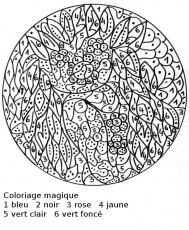 coloriage codé grande section