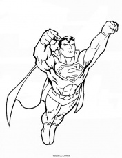 coloriages superman a imprimer