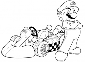 Artwork - Coloriages mario bros, best images concepts art