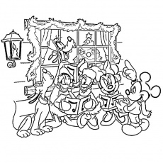 disney noel Coloriage