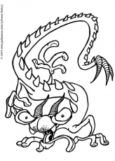 Coloriage de Monstres - Coloriage d'un monstre dragon