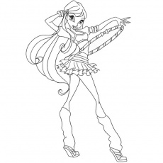 winx roxy Coloriage