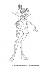 MUSA coloring pages - Musa from the Winx Club