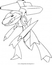 a genesect Colouring Pages