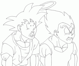 kid vegita Colouring Pages