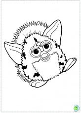 Furby Coloring page- DinoKids.org